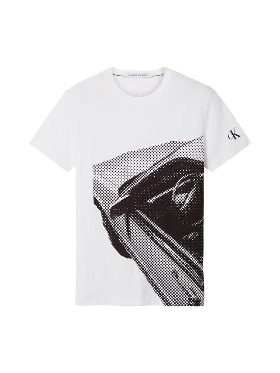 Calvin Klein Jeans - Moto Photoprint -paita - YAF BRIGHT WHITE | Stockmann - photo 1