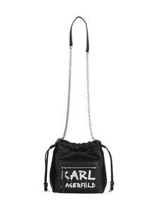 Karl Lagerfeld - K/Soho Graffiti Small Crossbody -nahkalaukku - A998 BLACK/WHITE   Stockmann