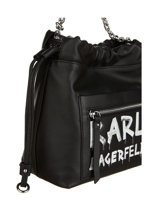 Karl Lagerfeld - K/Soho Graffiti Small Crossbody -nahkalaukku - A998 BLACK/WHITE | Stockmann - photo 3