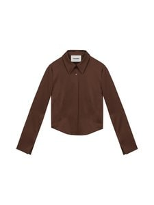 Nanushka - Alice Shirt -pusero - BROWN | Stockmann