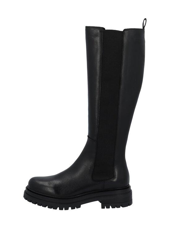 BIANCO - Biadarlene Chelsea Long Boot -nahkasaappaat - 100 BLACK   Stockmann - photo 1