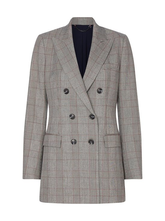 Tommy Hilfiger - Checked Double Breasted Blazer -bleiseri - 0GL CW CHECK BLACK BIG SCALE | Stockmann - photo 1