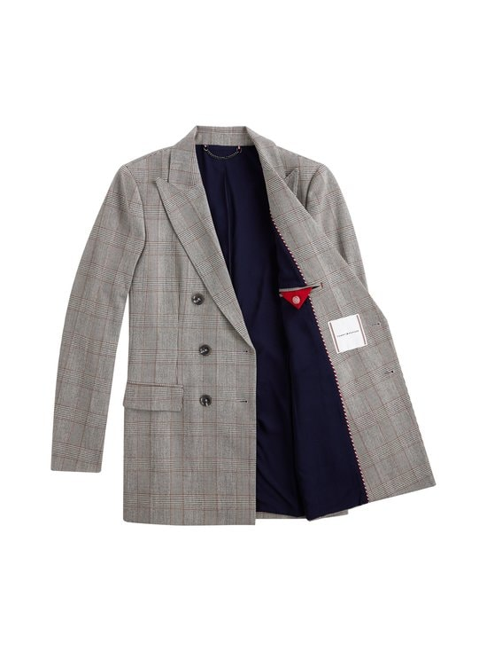 Tommy Hilfiger - Checked Double Breasted Blazer -bleiseri - 0GL CW CHECK BLACK BIG SCALE | Stockmann - photo 3