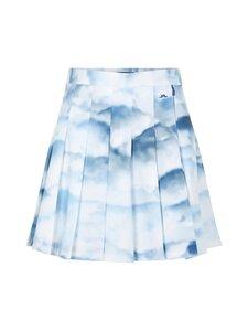 J.Lindeberg - Adina Printed Golf Skirt -hame - O416 CLOUD MIDNIGHT SUMMER BLUE | Stockmann