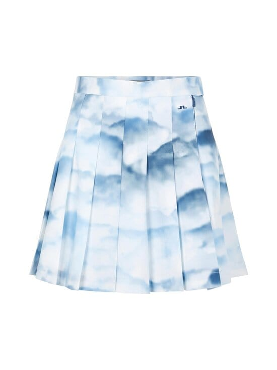 J.Lindeberg - Adina Printed Golf Skirt -hame - O416 CLOUD MIDNIGHT SUMMER BLUE | Stockmann - photo 1