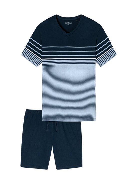 Schiesser - Selected! Premium Inspiration -shortsipyjama - 805 LIGHT BLUE   Stockmann - photo 1