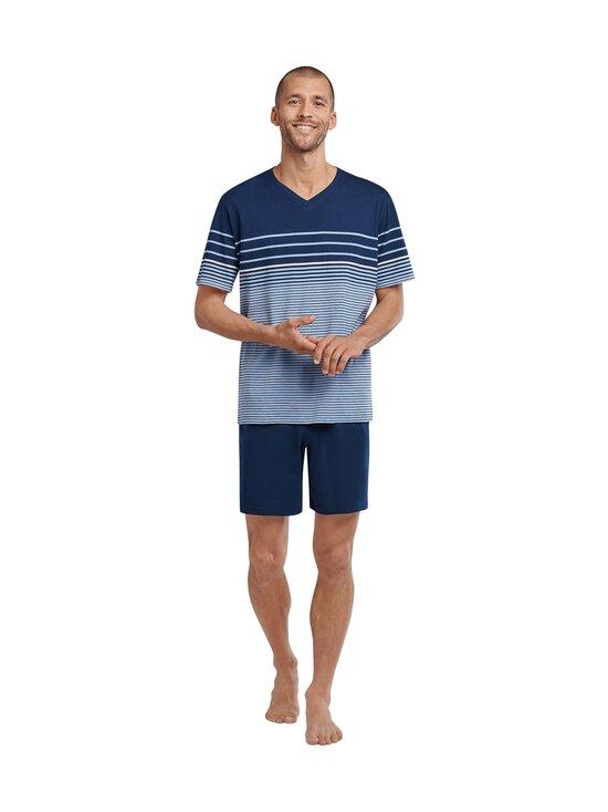 Schiesser - Selected! Premium Inspiration -shortsipyjama - 805 LIGHT BLUE   Stockmann - photo 3