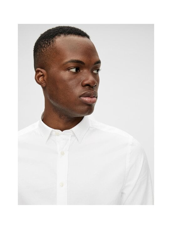J.Lindeberg - Stretch Oxford Slim Shirt -kauluspaita - 0000 WHITE   Stockmann - photo 6