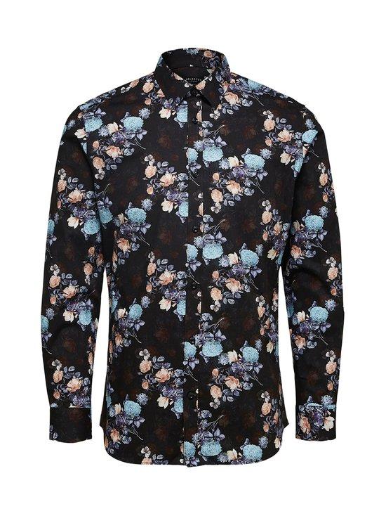 Selected - SlhSlimpen-Randall Shirt -paita - BLACK AOP:AOP | Stockmann - photo 1