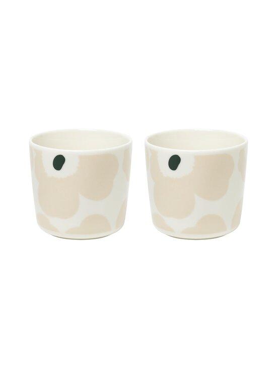 Marimekko - Oiva/Unikko-kahvikuppi 2 dl, 2 kpl - 186 WHITE, BEIGE, DARK GREEN | Stockmann - photo 2