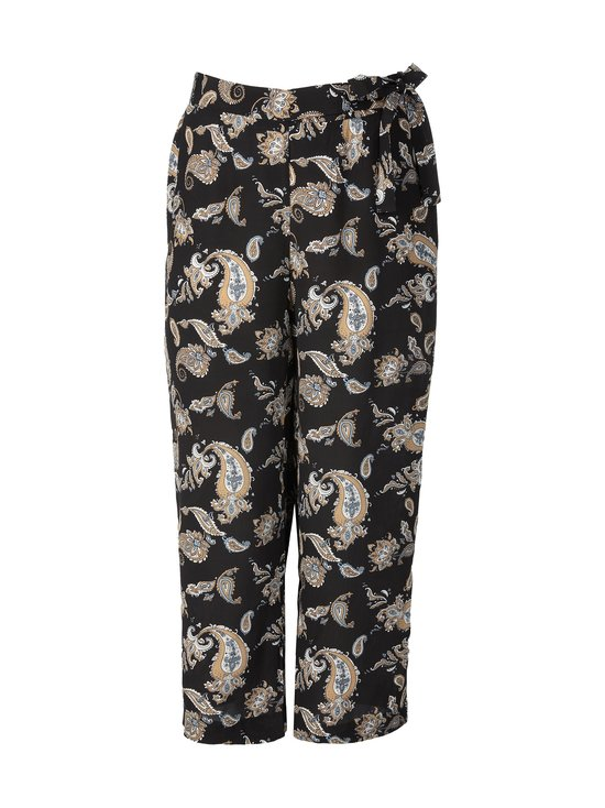 cut & pret PLUS - Teresa Plus Printed Wide -housut - BLACK PAISLEY PRINT | Stockmann - photo 1