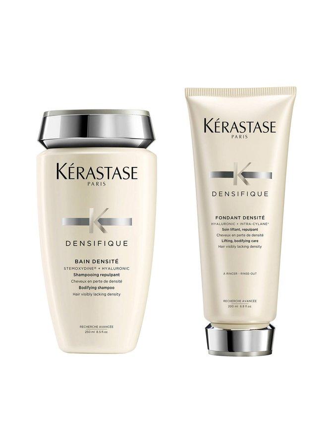 Densifique-pakkaus: Bain Densité -shampookylpy 250 ml + Fondant Densité -hoitoaine 200 ml kaikille hiustyypeille