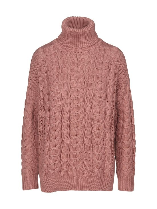 NA-KD - Big Polo Neck Cable Knitted -neule - DUSTY ROSE   Stockmann - photo 1