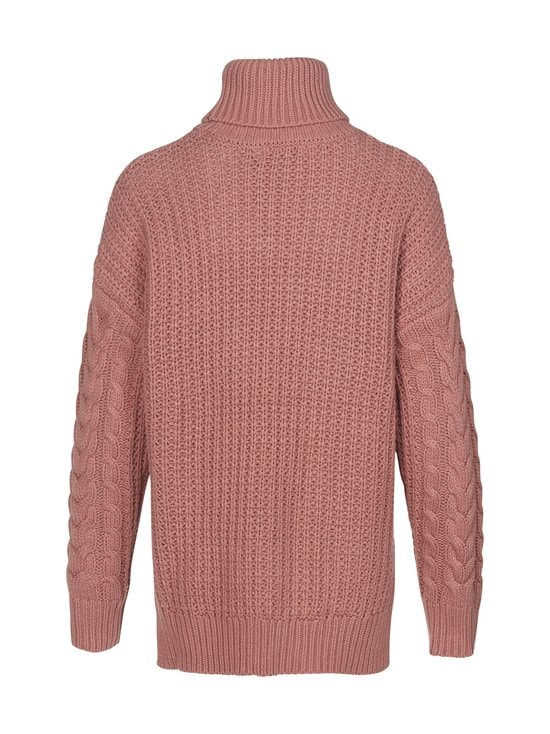 NA-KD - Big Polo Neck Cable Knitted -neule - DUSTY ROSE   Stockmann - photo 2