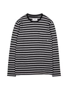 Makia - Verkstad Long Sleeve -paita - 960 GREY-BLACK   Stockmann