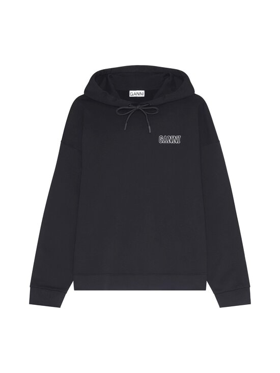 Ganni - Software Isoli Hoodie -huppari - BLACK | Stockmann - photo 1