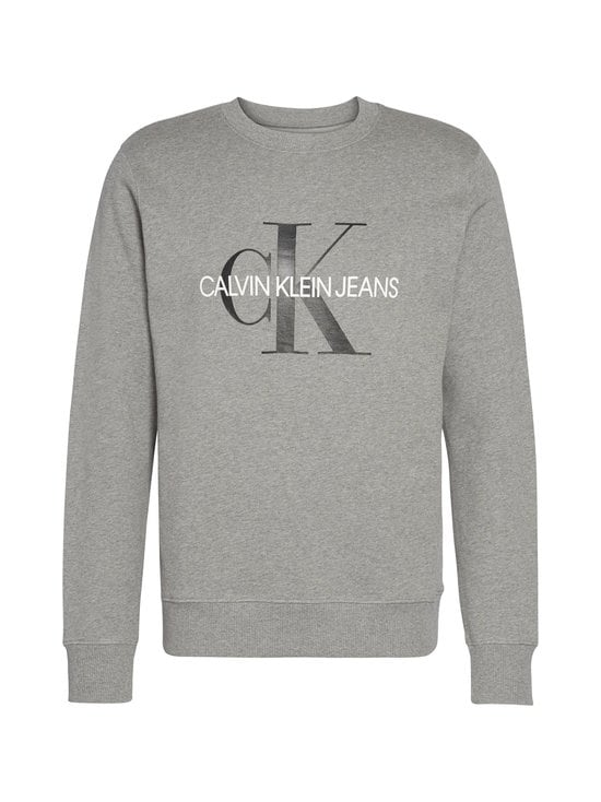 Calvin Klein Jeans - Iconic Monogram Crewneck -collegepaita - P2F MID GREY HEATHER | Stockmann - photo 1