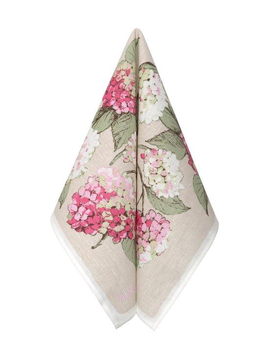 Pentik - Hortensia-keittiöpyyhe 47 x 70 cm - PINKKI/VIHREÄ | Stockmann - photo 1