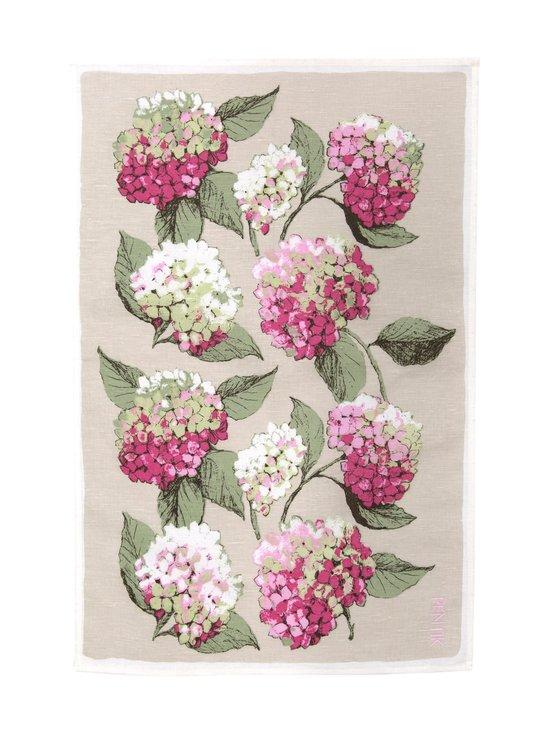 Pentik - Hortensia-keittiöpyyhe 47 x 70 cm - PINKKI/VIHREÄ | Stockmann - photo 2