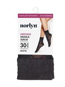 Norlyn - Heritage 30 den -nilkkasukat - 1132 CHARCOAL | Stockmann