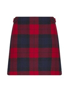 Tommy Hilfiger - Wool Cashmere Check Mini -hame - 0QP JOANNA CHK / PRIMARY RED   Stockmann