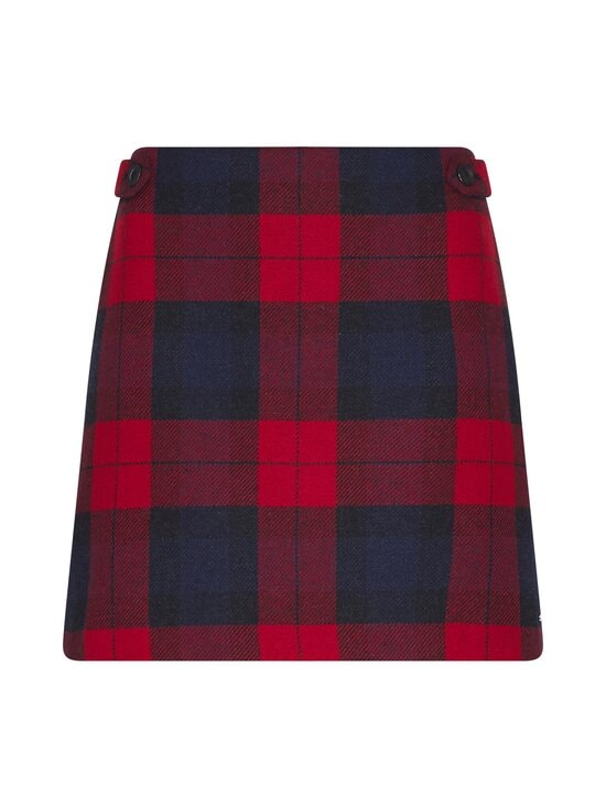 Tommy Hilfiger - Wool Cashmere Check Mini -hame - 0QP JOANNA CHK / PRIMARY RED   Stockmann - photo 1