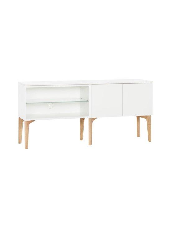Lundia - Fuuga-tv-taso 35 x 60 x 128 cm - WHITE PAINTED MDF/OAK/FROST GLASS SHELF | Stockmann - photo 1