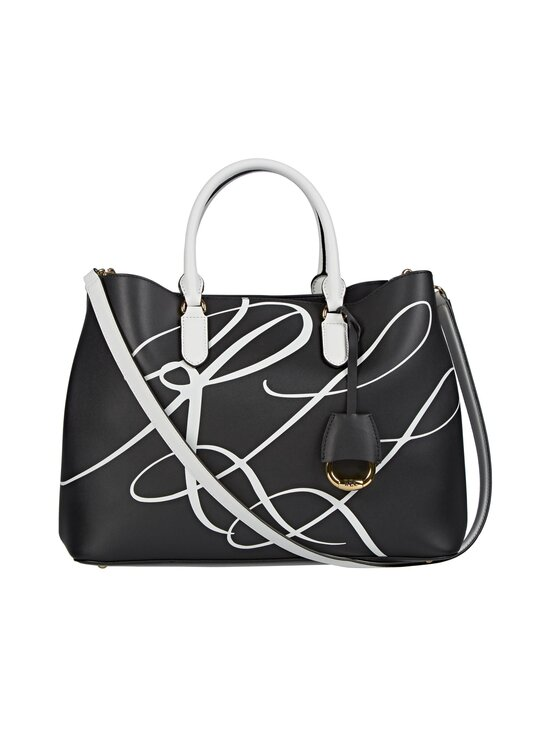 Lauren Ralph Lauren - MARCY SATCHEL LARGE -nahkalaukku - RLL SCRIPT | Stockmann - photo 1