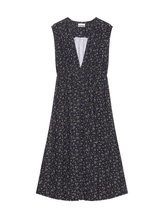 Ganni - Printed Crepe Dress -mekko - BLACK | Stockmann - photo 1