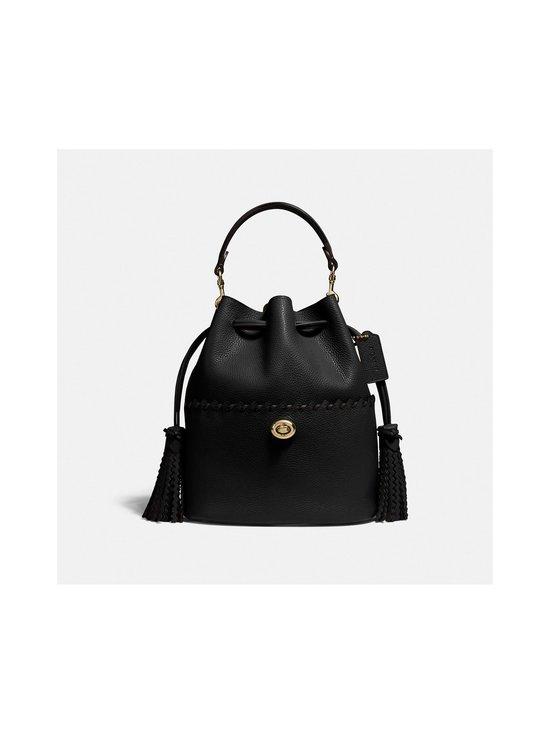 Coach - Lora Bucket Bag With Whipstitch Detail -nahkalaukku - B4/BLACK   Stockmann - photo 1