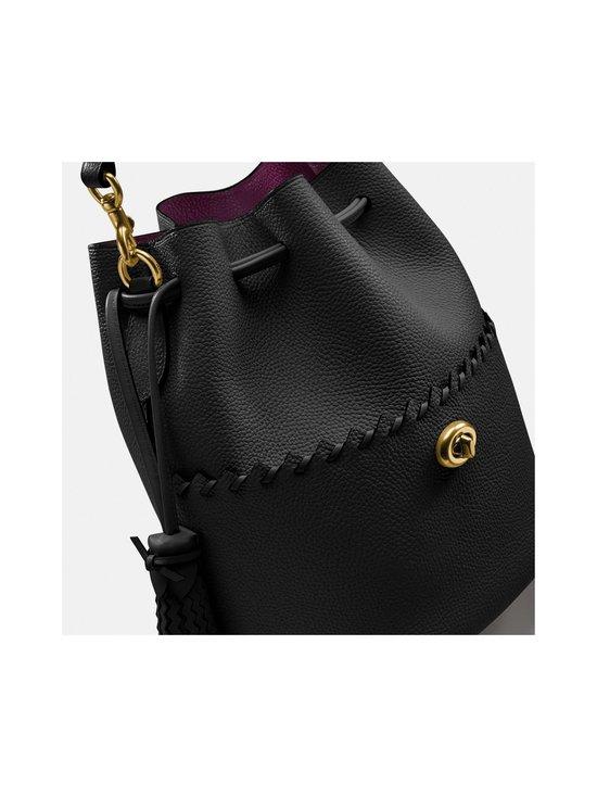 Coach - Lora Bucket Bag With Whipstitch Detail -nahkalaukku - B4/BLACK   Stockmann - photo 2