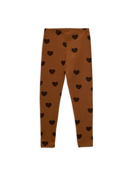 Mini Rodini - Hearts-leggingsit - BROWN | Stockmann - photo 2