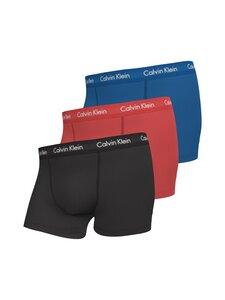 Calvin Klein Underwear - Trunk-bokserit 3-pack - MC8 KETTLE BLUE/STRAWBERRY FIELD/BLACK | Stockmann