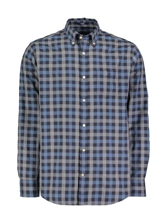 GANT - Tech Prep™ Oxford Heather Gingham -kauluspaita - MARINE | Stockmann - photo 1