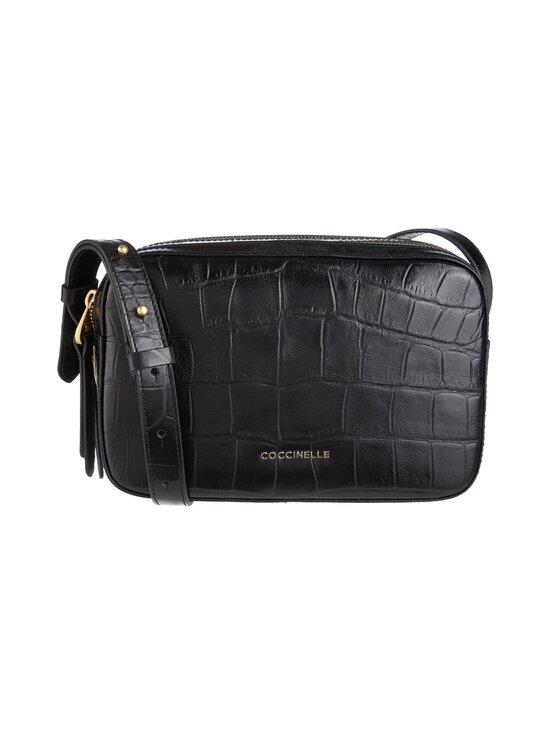 Coccinelle - Lea Croco Maxi Handbag -nahkalaukku - 001 NOIR   Stockmann - photo 1