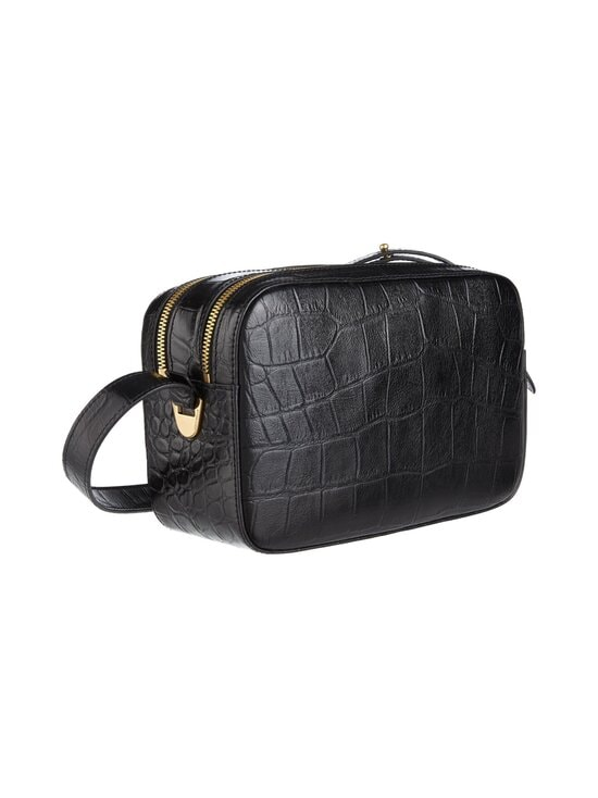 Coccinelle - Lea Croco Maxi Handbag -nahkalaukku - 001 NOIR   Stockmann - photo 2