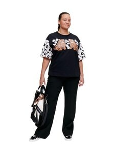 Marimekko - Karhunputki Kaksoset Placement -paita - 829 BLACK, OFF WHITE, ORANGE BROWN | Stockmann