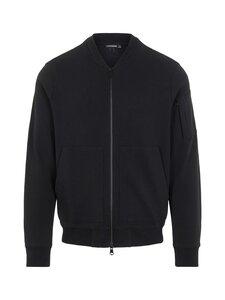 J.Lindeberg - Jersey Seth Bomber Sweat Jacket -collegetakki - 9999 BLACK   Stockmann