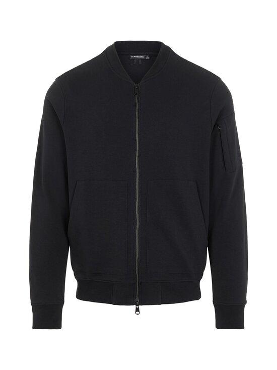 J.Lindeberg - Jersey Seth Bomber Sweat Jacket -collegetakki - 9999 BLACK | Stockmann - photo 1