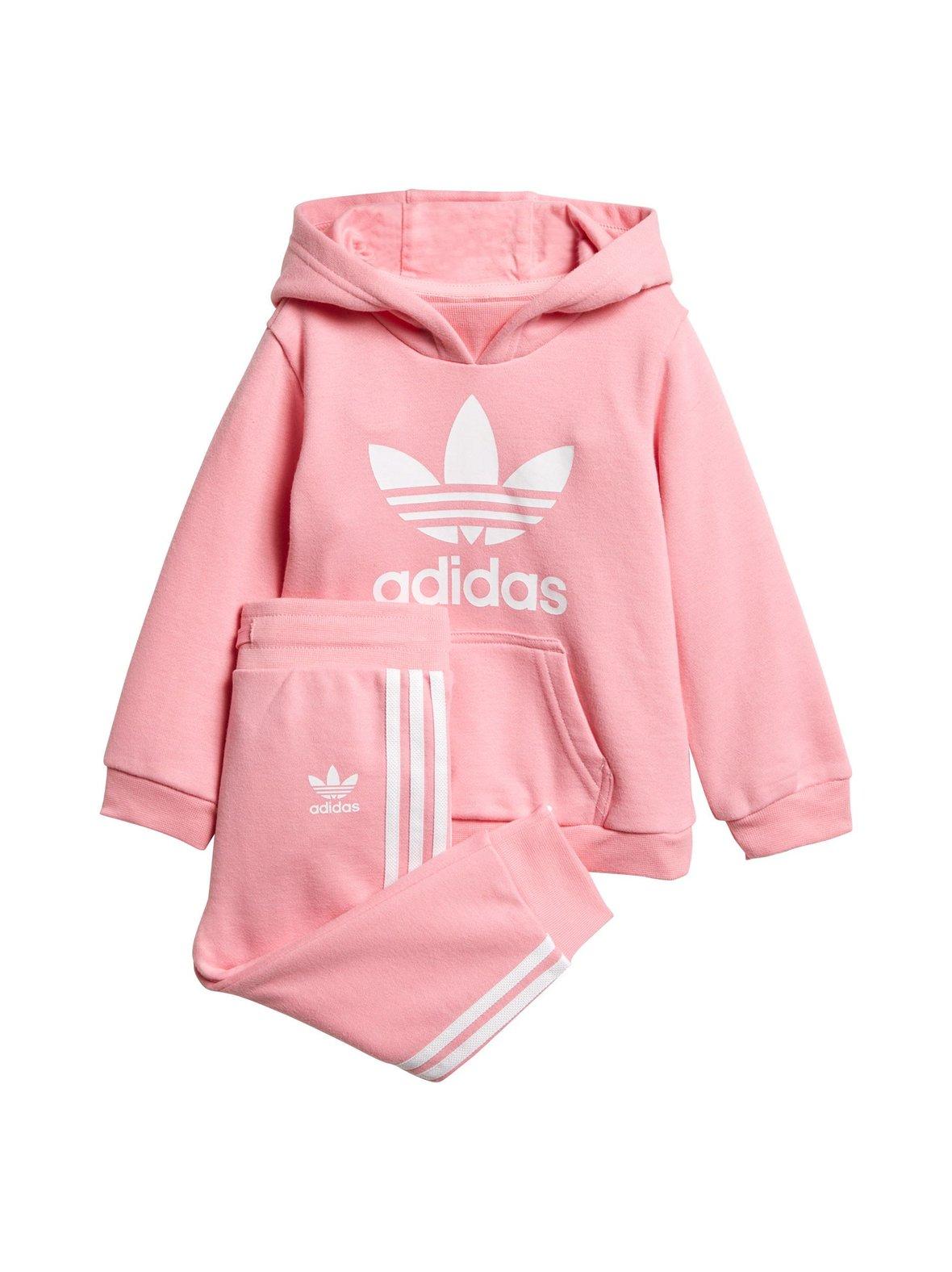 Light Pink White (vaaleanpunainen) adidas Originals Trefoil Hoodie ... a0eefa3e0f
