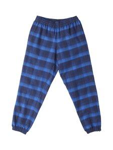 MARCELO BURLON - Flanel Check Jogging Zip Cuff -housut - BLUE | Stockmann