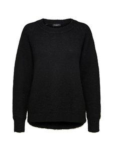 Selected - SlfLulu LS Knit O-Neck -villasekoiteneule - C-N10 BLACK | Stockmann