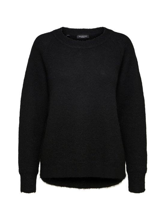 Selected - SlfLulu LS Knit O-Neck -neule - C-N10 BLACK | Stockmann - photo 1