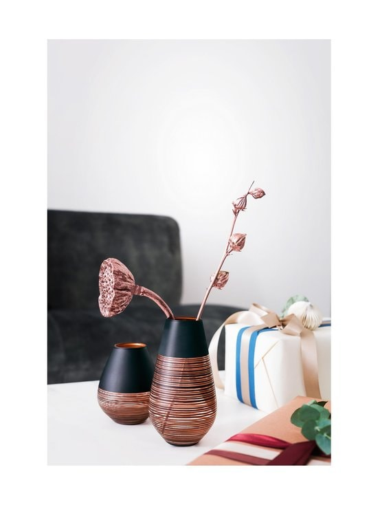 Villeroy & Boch - Manufacture Swirl -maljakko 12,2 cm - MUSTA/KUPARI   Stockmann - photo 2