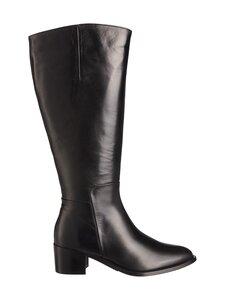 BIANCO - BiaCarol Long Extra Wide -nahkasaappaat - 100 BLACK | Stockmann