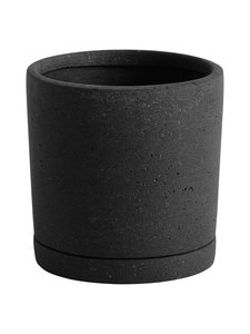 HAY - Plant Pot -ruukku ja aluslautanen M ø 14 cm - BLACK | Stockmann