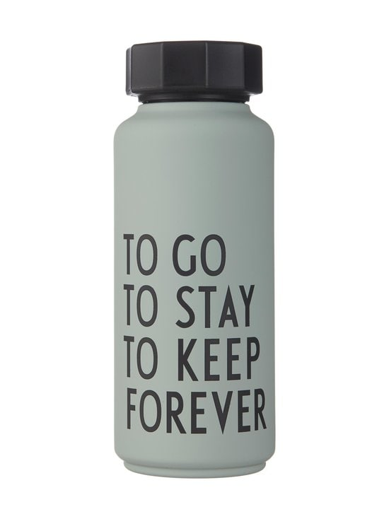 Design Letters - Termospullo 500 ml - GREY WITH GREEN PATTERN   Stockmann - photo 1