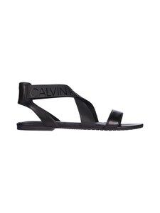 Calvin Klein Footwear - Flat Sandal Ankle Elastic LTH -sandaalit - BDS BLACK | Stockmann