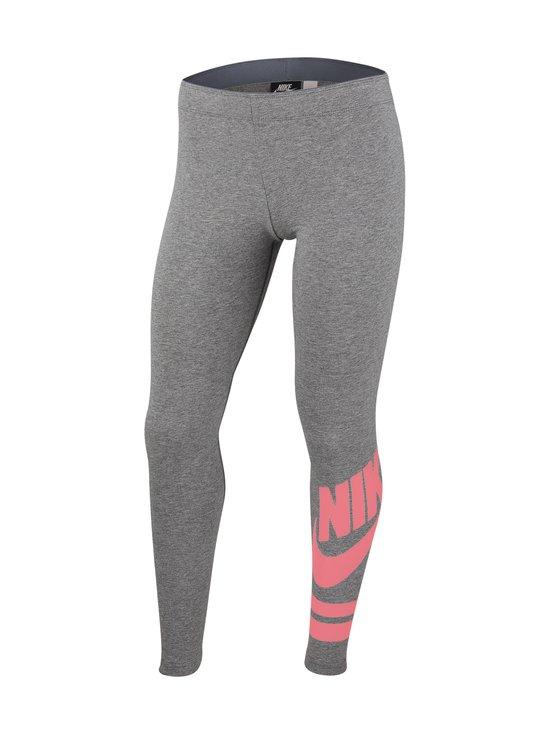 Nike - Sportswear Older Kids' Graphic Leggings -leggingsit - CARBON HEATHER/PINK GAZE | Stockmann - photo 1