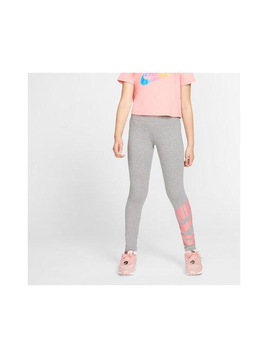 Nike - Sportswear Older Kids' Graphic Leggings -leggingsit - CARBON HEATHER/PINK GAZE | Stockmann - photo 3